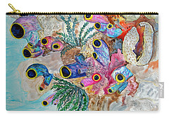 Pink Beach Sea Squirts Carry-all Pouch by Patricia Beebe