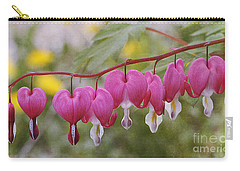 Pink Bleeding Hearts Carry-all Pouch