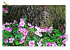 Pink Blooms In The Forest Carry-all Pouch by Miriam Danar