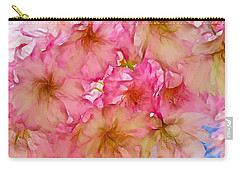 Carry-all Pouch featuring the digital art Pink Blossom by Lilia D
