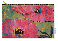 Carry-all Pouch featuring the painting Pink Blossoms by Robin Maria Pedrero