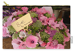 Carry-all Pouch featuring the photograph Pink Bouquet by Carla Parris