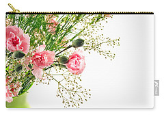 Pink Carnation Flowers Carry-all Pouch