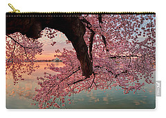 Pink Cherry Blossom Sunrise Carry-all Pouch