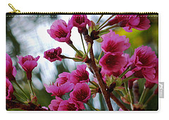 Pink Cherry Blossoms Carry-all Pouch by Pamela Walton