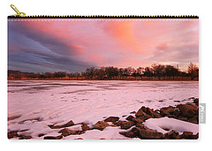 Pink Clouds Over Memorial Park Carry-all Pouch