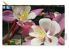 Carry-all Pouch featuring the photograph Pink Columbine by Caryl J Bohn