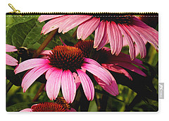 Carry-all Pouch featuring the photograph Pink Coneflowers by James C Thomas