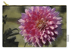 Pink Dahlia Carry-all Pouch by Jeff Kolker