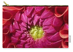 Carry-all Pouch featuring the photograph Pink Dahlia Variation by Susan Garren