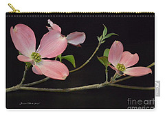 Carry-all Pouch featuring the photograph Pink Dogwood Branch  by Jeannie Rhode