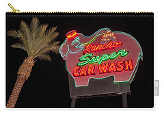 Pink Elephant Car Wash 36 X 24 Carry-all Pouch
