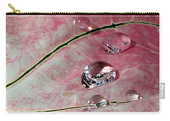 Pink Fancy Leaf Caladium - September Tears Carry-all Pouch by Pamela Critchlow