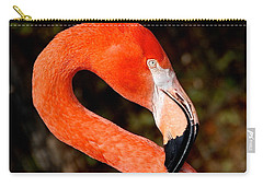 Carry-all Pouch featuring the photograph Not So Pink Flamingo by Dee Dee  Whittle
