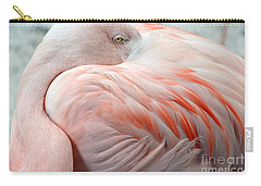 Carry-all Pouch featuring the photograph Pink Flamingo II by Robert Meanor