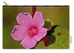 Carry-all Pouch featuring the photograph Pink Flower by Olga Hamilton