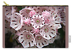 Pink Flowered Mountain Laurel Carry-all Pouch