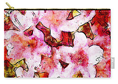 Carry-all Pouch featuring the painting Pink Flowers 2 by Greg Collins