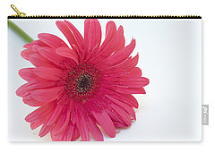 Carry-all Pouch featuring the photograph Pink Gerbera Daisy  by Patrice Zinck
