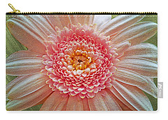 Pink Gerbera Textured Carry-all Pouch