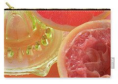Pink Grapefruit Wedge, Squeezed Grapefruit, Citrus Squeezer Carry-all Pouch