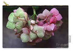 Pink Green And Rain Carry-all Pouch