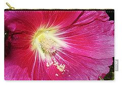 Pink Hollyhock Carry-all Pouch by Phyllis Denton