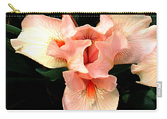 Pink Iris Carry-all Pouch by The Art of Alice Terrill