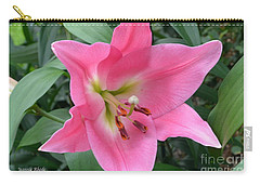 Carry-all Pouch featuring the photograph Pink Lily by Jeannie Rhode