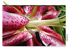 Pink Lily Macro Carry-all Pouch