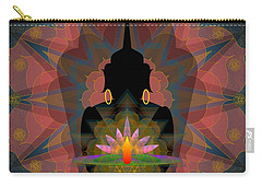 Pink Lotus Buddha Carry-all Pouch