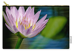 Purple Petals Lotus Flower Impressionism Carry-all Pouch