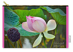 Pink Lotus Carry-all Pouch by Savannah Gibbs
