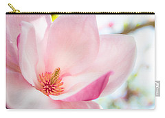 Pink Magnolia Carry-all Pouch by Denise Bird