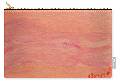 Pink Nude On Orange Carry-all Pouch by David Trotter
