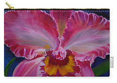 Carry-all Pouch featuring the painting Pink Orchid by Jenny Lee