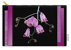 Carry-all Pouch featuring the photograph Framed Orchid Spray by Patti Deters