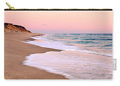 Pink Pastel Beach And Sky Carry-all Pouch by Roupen  Baker