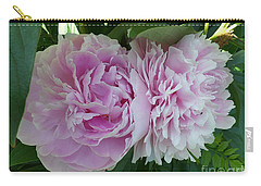 Pink Peonies 2 Carry-all Pouch by HEVi FineArt
