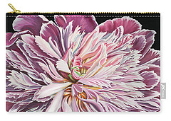 Carry-all Pouch featuring the painting Pink Peony by Jane Girardot