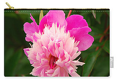 Carry-all Pouch featuring the photograph Pink Peony by Mary Carol Story