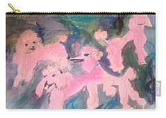 Pink Poodle Polka Carry-all Pouch by Judith Desrosiers