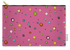 Pink Pop Flower Spot Carry-all Pouch