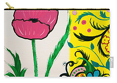Pink Poppy And Designs Carry-all Pouch