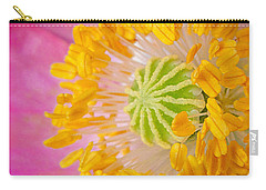 Pink Poppy Too Squared Carry-all Pouch