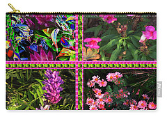 Pink Purple Flowers Captured At The Riverside Ridge At Oakville Ontario Canada Collage Beautiful     Carry-all Pouch by Navin Joshi