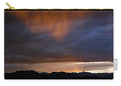 Carry-all Pouch featuring the photograph Pink Rain 1 by Marilyn Hunt