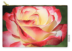 Carry-all Pouch featuring the photograph Pink Rose by Athala Carole Bruckner