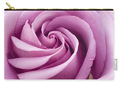 Pink Rose Folded To Perfection Carry-all Pouch by Sandra Foster