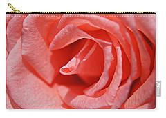 Pink Rose Carry-all Pouch by Kathy Churchman